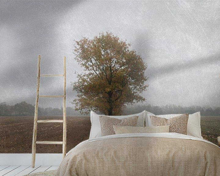 Sfeerimpressie behang: Lonely soul van Jenny de Groot