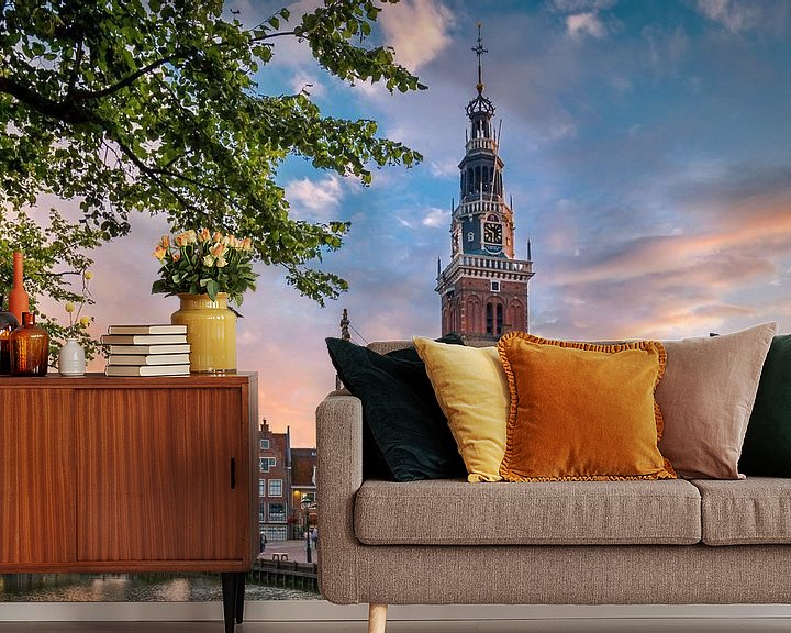 Sfeerimpressie behang: De Waag - Alkmaar van Bart Hendrix