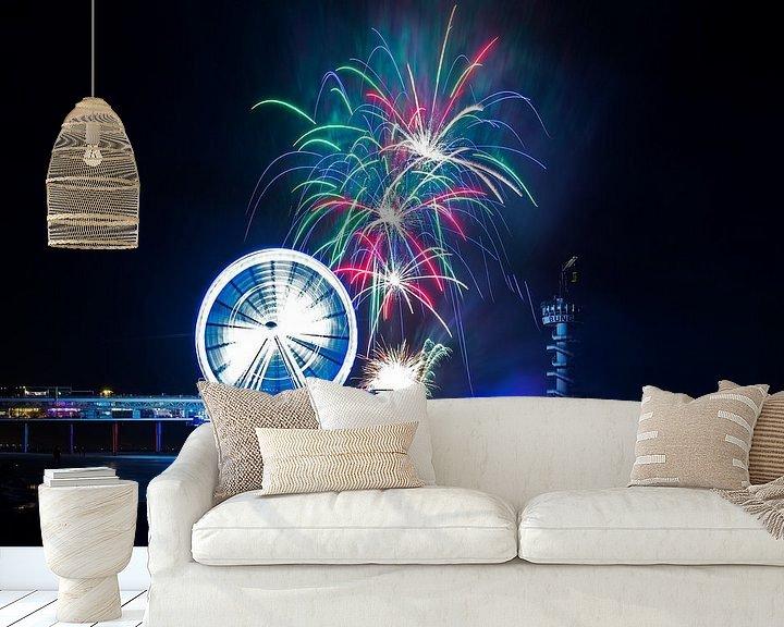 Beispiel fototapete: Das International Fireworks Festival Scheveningen von Anton de Zeeuw