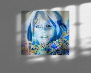 Brigitte Bardot Flower Pop Art sur Felix von Altersheim