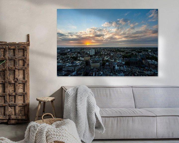 Beispiel: Zonsondergang stad Utrecht vanaf Domtoren von Peter Haastrecht, van