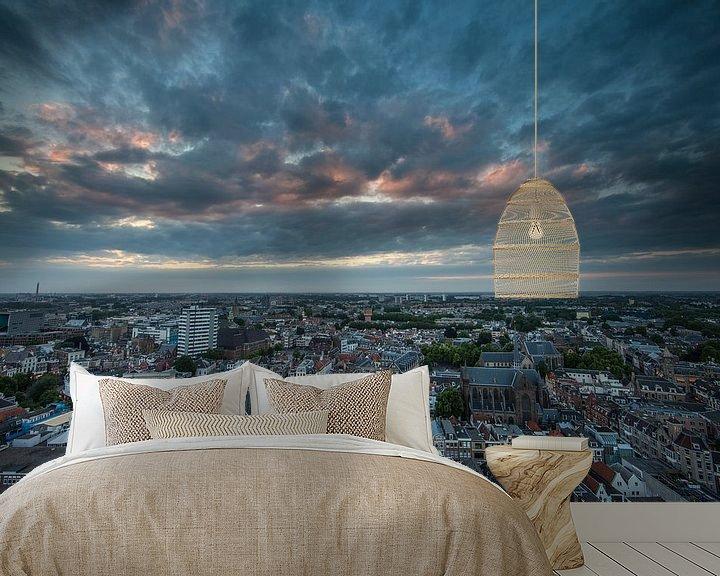 Beispiel fototapete: Zonsondergang stad Utrecht vanaf de Domtoren! von Peter Haastrecht, van