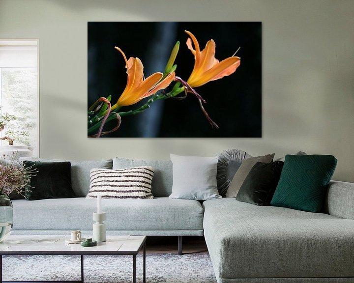 Sfeerimpressie: Oranje bloemkelken van Rianne Fotografeert