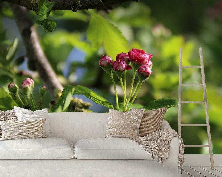 Sfeerimpressie behang: Roze bloesem van Rianne Fotografeert