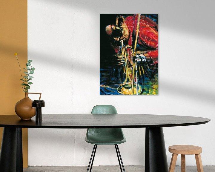 Sfeerimpressie: Miles Davis 2 van Frans Mandigers