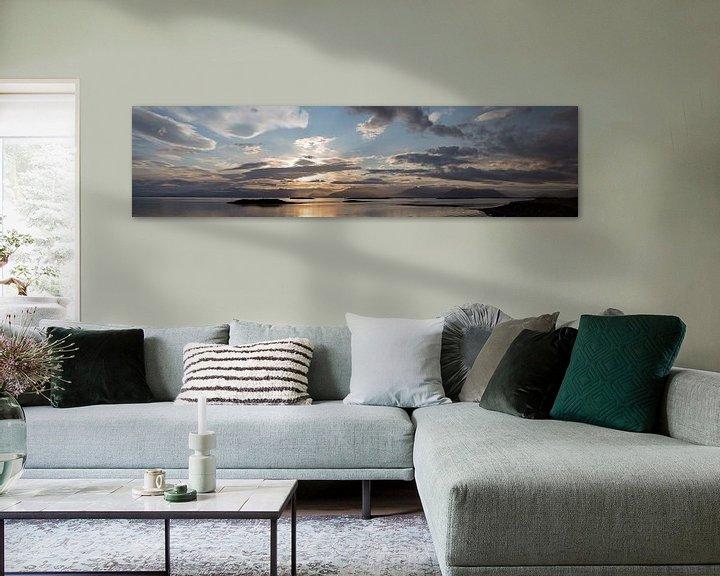 Sfeerimpressie: Panaorama van uitzicht op Vatnajokull van Menno Schaefer
