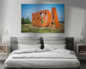 BREDA letters in kleur van Susan Lambeck