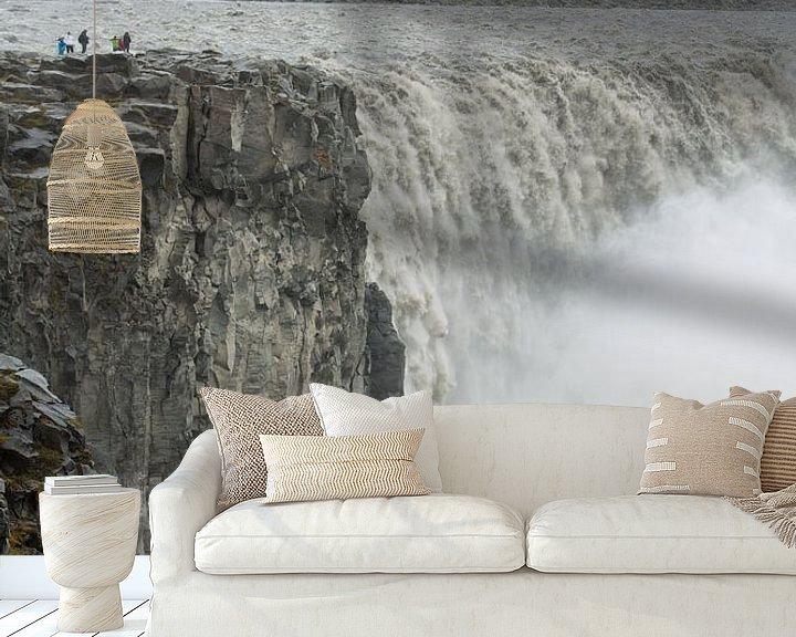 Beispiel fototapete: Detifoss waterval IJsland von Menno Schaefer