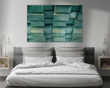 Buntes Holz von Rianne Fotografeert