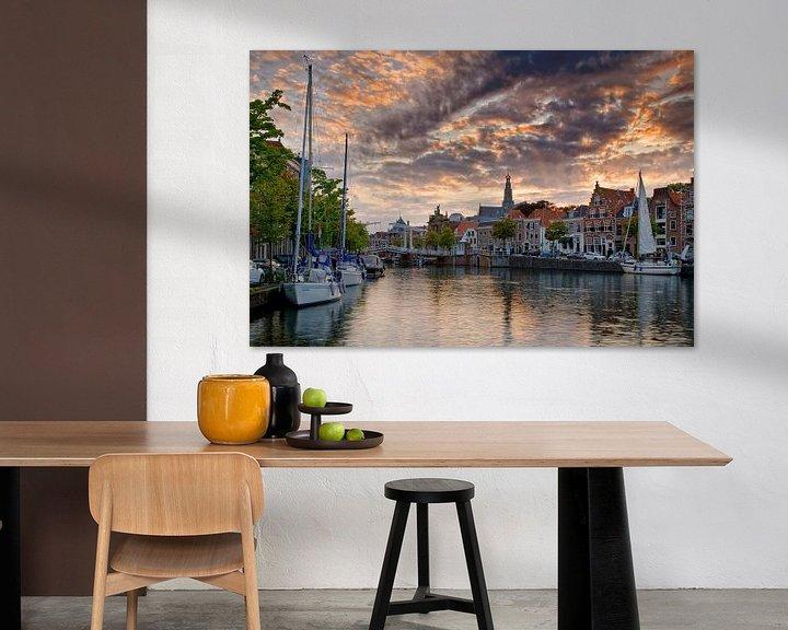 Sfeerimpressie: Zeilboten in Haarlem van Anton de Zeeuw
