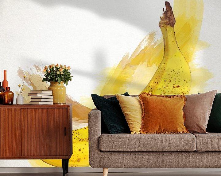 Sfeerimpressie behang: Fruities Banaan van Sharon Harthoorn