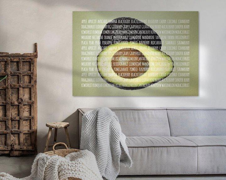 Sfeerimpressie: Fruities in kleur Avocado van Sharon Harthoorn