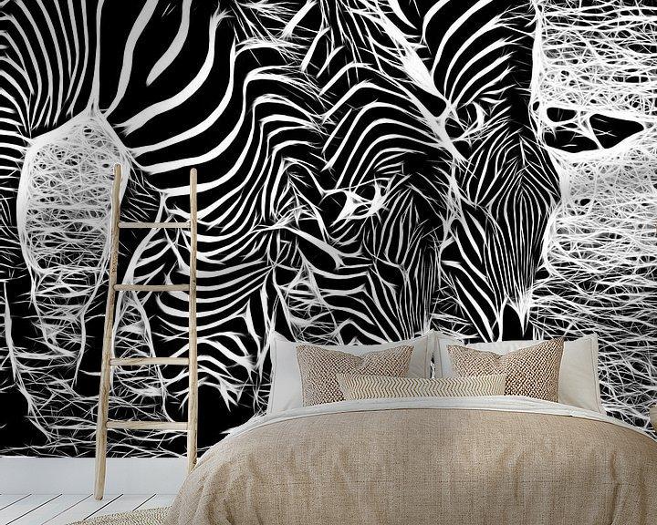 Beispiel fototapete: Zebra von Karl-Heinz Lüpke
