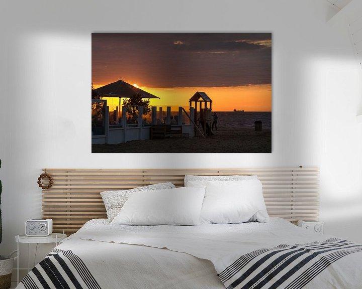 Sfeerimpressie: Op het Strand... van Eus Driessen