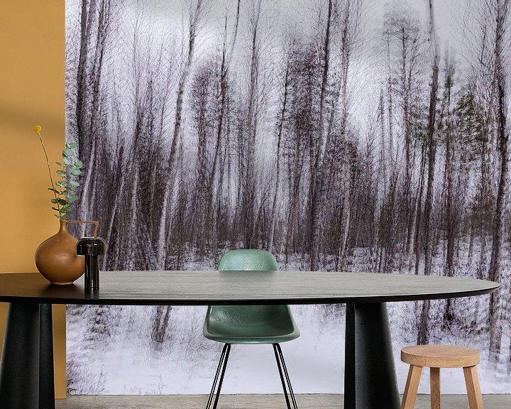 Sfeerimpressie behang: Abstract Taiga van Claudia van Zanten
