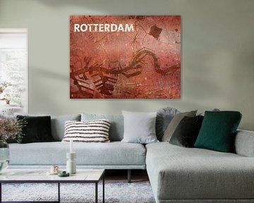 Wasserkarte Rotterdam von Frans Blok