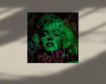 Marilyn Monroe Green Love Pop Art Pur van Felix von Altersheim