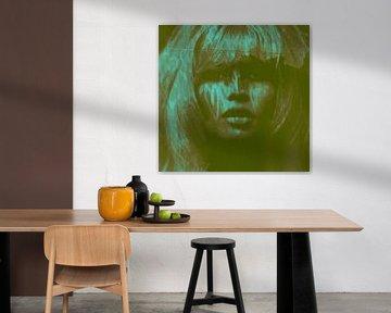 Brigitte Bardot Love - 24 colours Game - Dirty Green von Felix von Altersheim