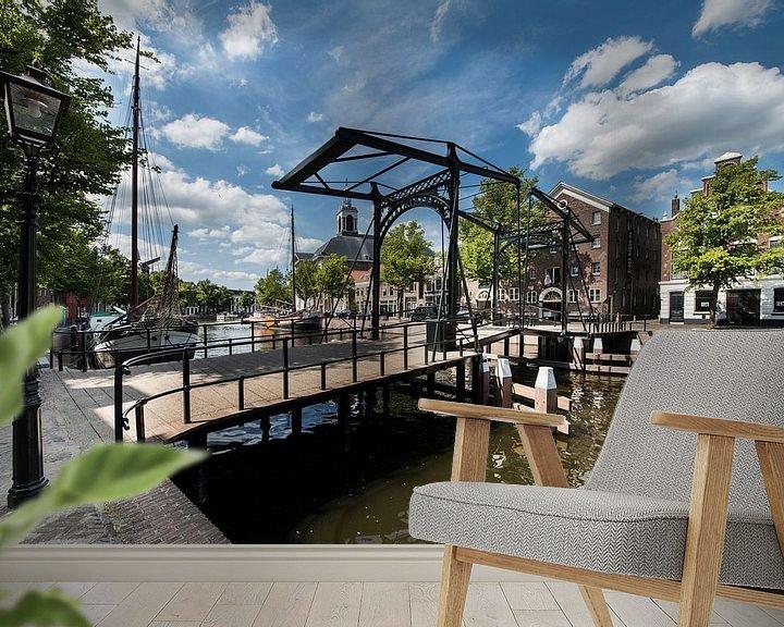 Sfeerimpressie behang: Taanbrug, Schiedam van Jan Sluijter