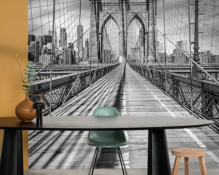 Beispiel fototapete: NEW YORK CITY Brooklyn Bridge | Panorama von Melanie Viola