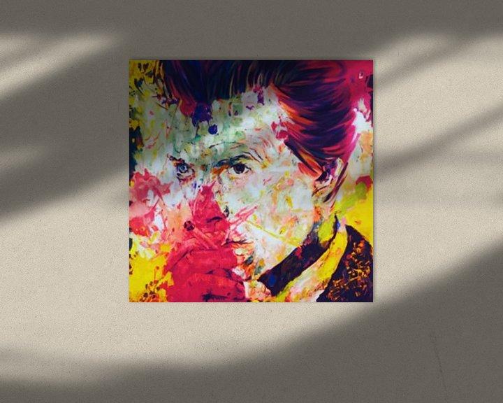 Beispiel: David Bowie Vintage Summer Splash Pop Art PUR von Felix von Altersheim