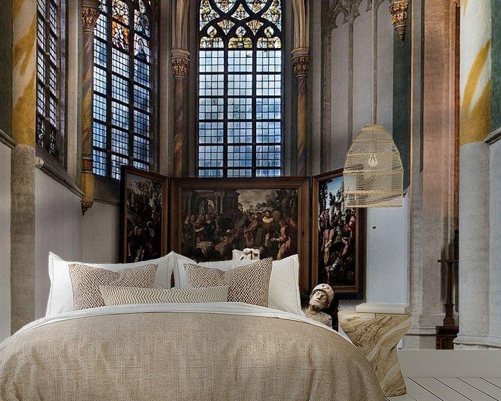 Sfeerimpressie behang: Prinsenkapel in de Grote Kerk van Breda van Jan Sluijter