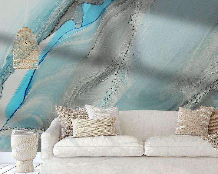 Sfeerimpressie behang: Deep waters II van Carla Mesken-Dijkhoff