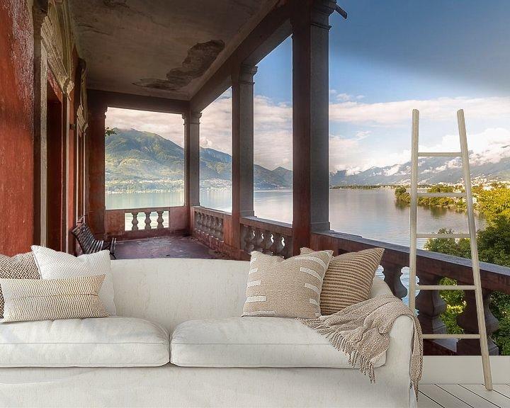 Beispiel fototapete: Blick auf den See. von Roman Robroek