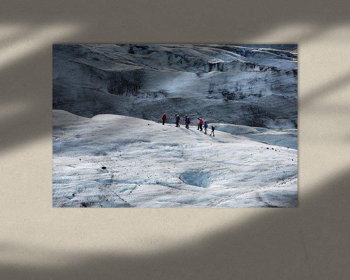 Sfeerimpressie: Wandelen op de gletsjer Vatnajokull van Menno Schaefer