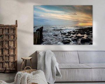 Zonsondergang aan zee von Evert Jan Kip