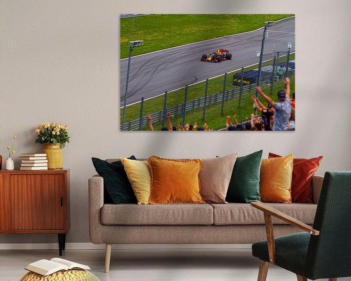 Sfeerimpressie: Max Verstappen in actie tijdens de Grand-Prix van Oostenrijk 2017 van Justin Suijk