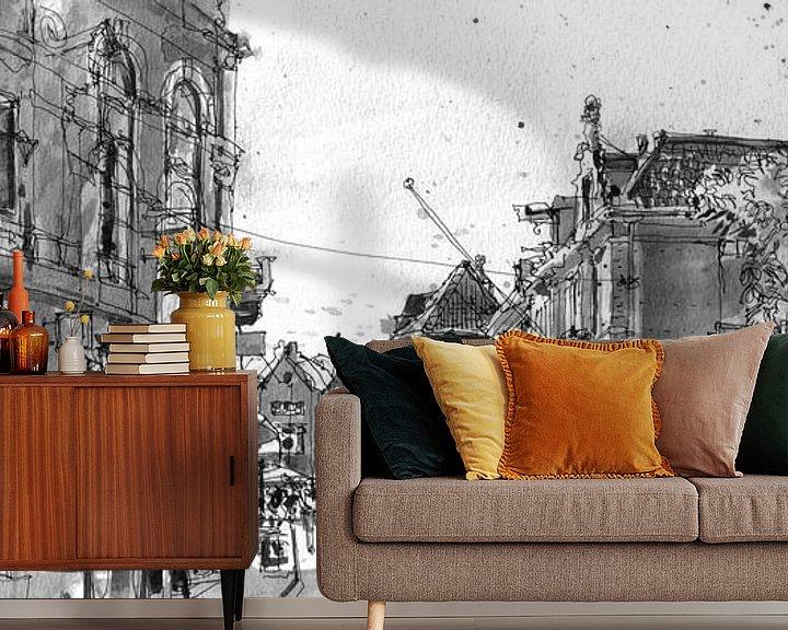Sfeerimpressie behang: Wed, Utrecht van Christiaan T. Afman