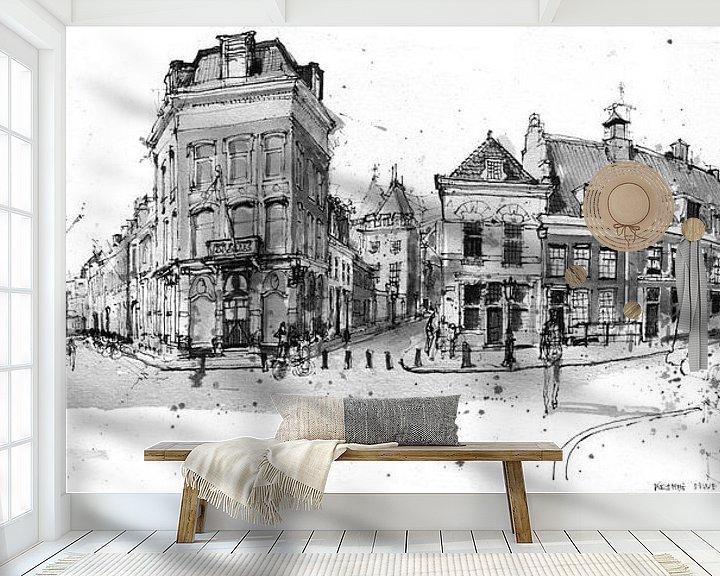 Sfeerimpressie behang: Pausdam, Utrecht van Christiaan T. Afman