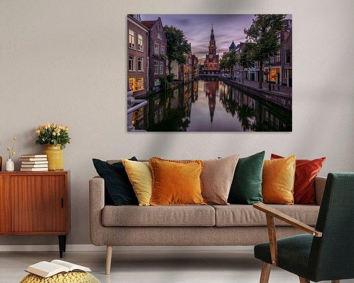 Sfeerimpressie: Avonds in Alkmaar van Georgios Kossieris