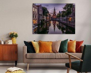 Avonds in Alkmaar van Georgios Kossieris