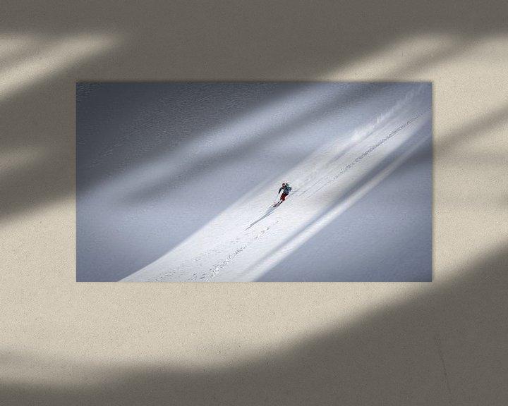 Sfeerimpressie: Freeride ski van Martijn Hinrichs