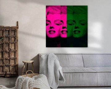 Marilyn Monroe - 12 Colours - Pink - Dark Green  - Neon Game von Felix von Altersheim