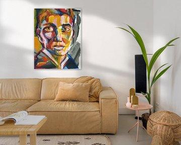 Portrait eines Mannes von ART Eva Maria