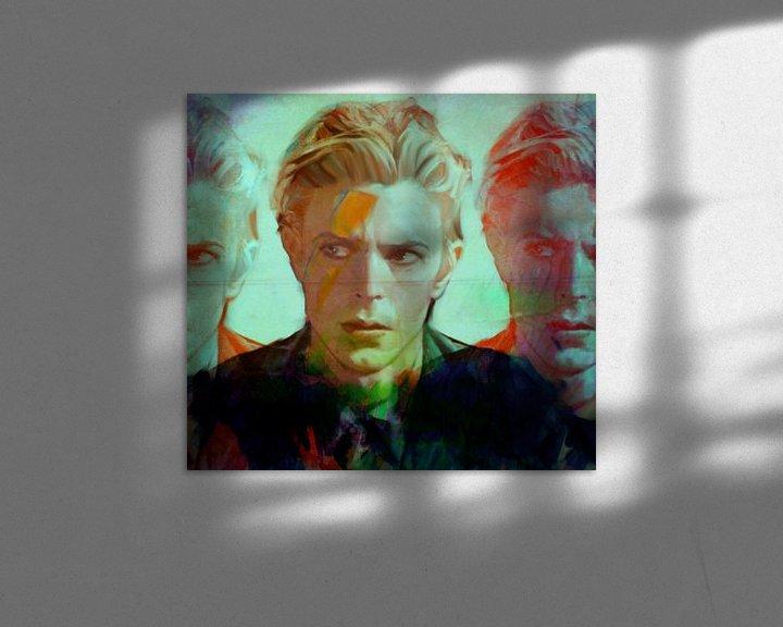 Sfeerimpressie: Motiv David Porträt Bowie the Duke - 3 Faces van Felix von Altersheim