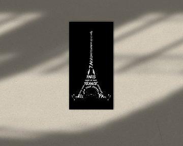 Digitale Kunst Eiffeltoren | Panorama van Melanie Viola