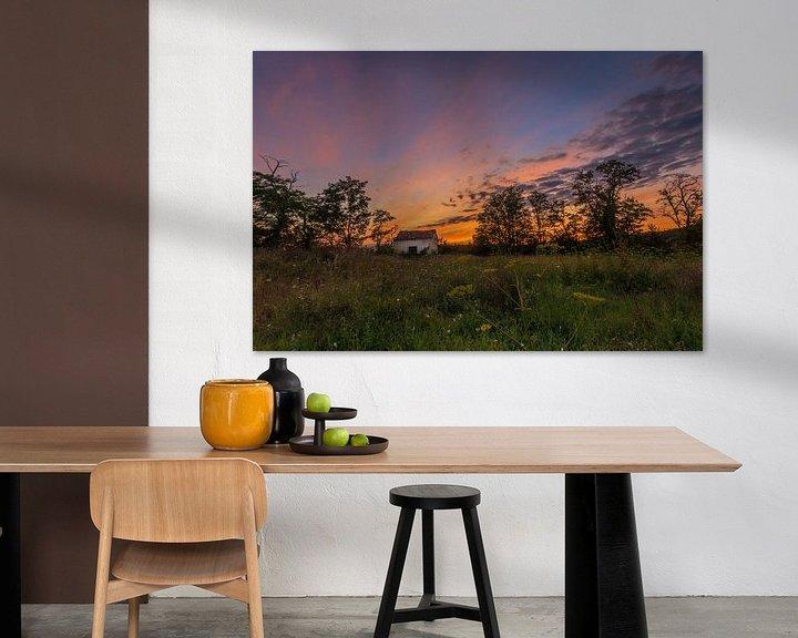 Impression: Lonely shed @ sunset I sur Marcel de Groot