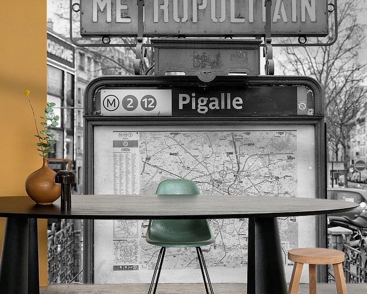 Beispiel fototapete: Place Pigalle in Paris von Loek van de Loo