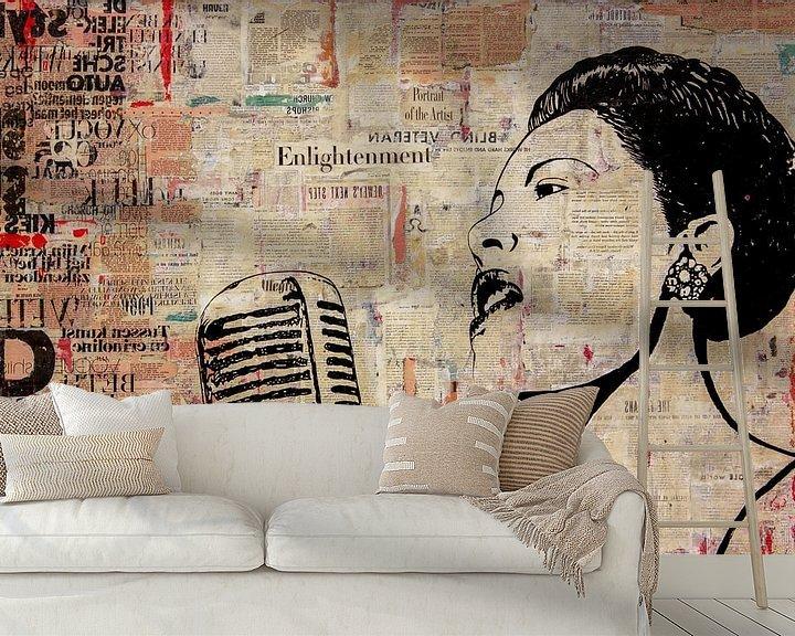 Sfeerimpressie behang: LADY DAY van db Waterman