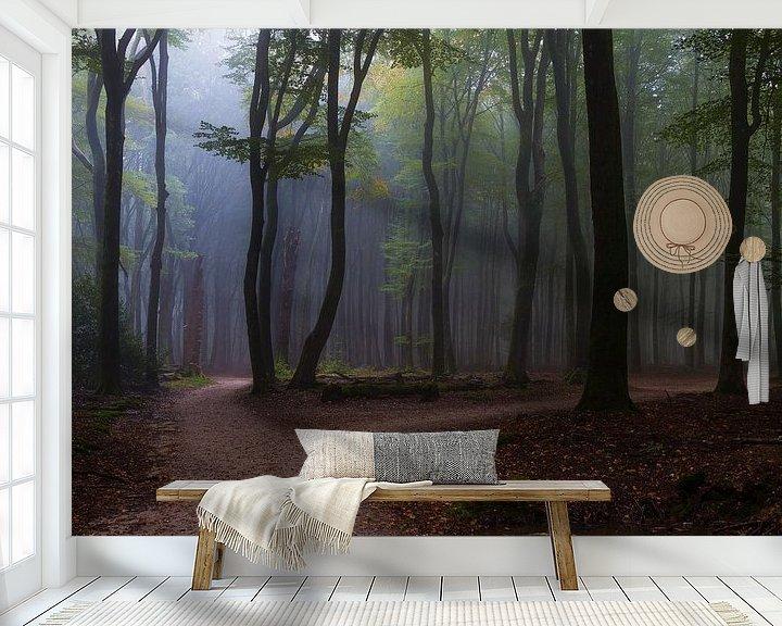 Sfeerimpressie behang: Speulderbos bij het Solse gat, Putten van Joep de Groot