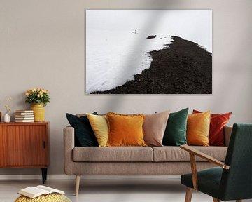 Besneeuwde vulkaankrater op de Etna van Jeroen Knippenberg