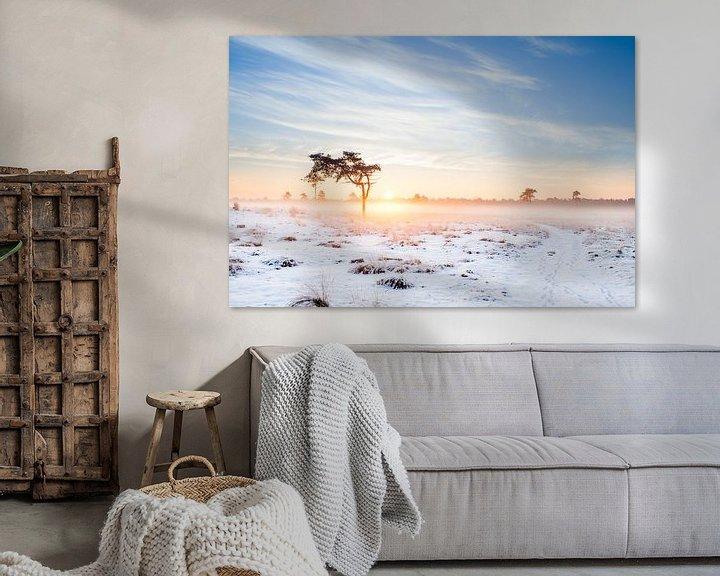 Sfeerimpressie: Sneeuwlandschap van Thomas van der Willik