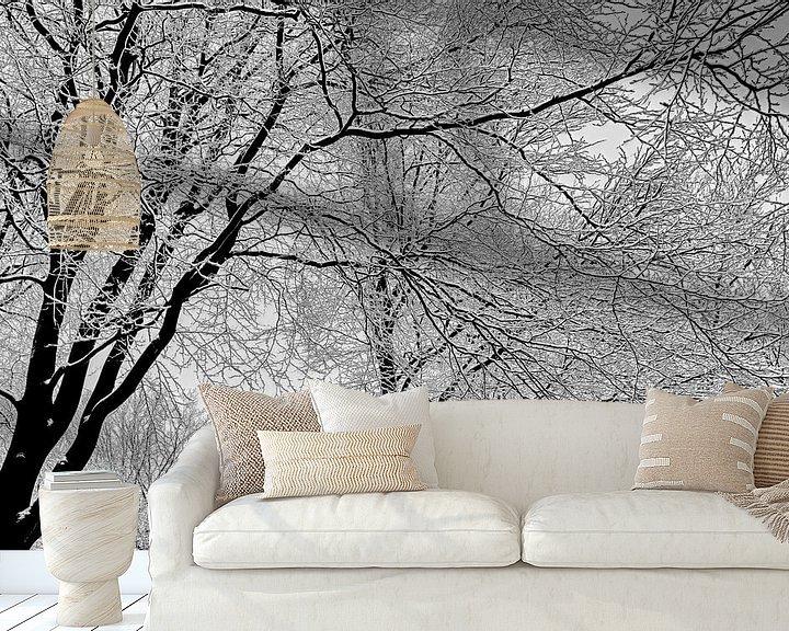 Sfeerimpressie behang: Zwart-Wit van Michiel Leegerstee