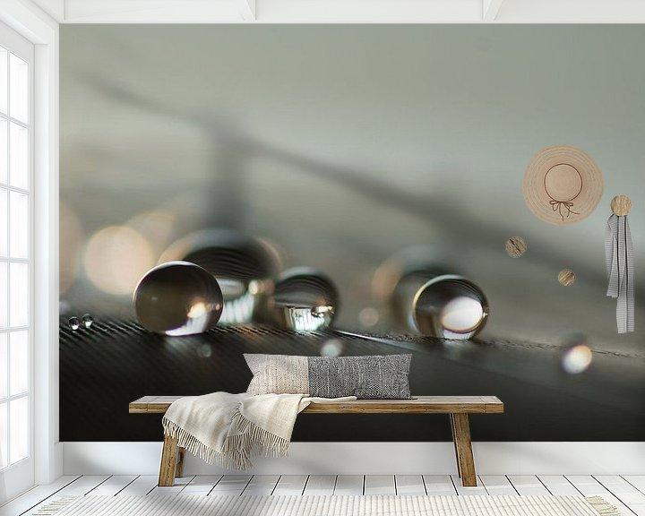 Sfeerimpressie behang: Meet the drops van Carla Mesken-Dijkhoff