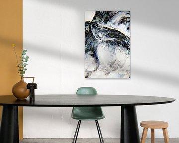 Abstractie van Ding #021b van Peter Baak