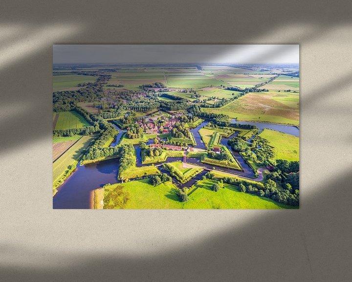 Sfeerimpressie: Vestingdorp Bourtange vanuit de Lucht van Frenk Volt